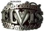 Elvis Presley Graceland Memories Officially Licensed Belt Buckle + display stand. Code JJ1